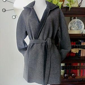 GAP Wrap Hooded Wool Blend Coat